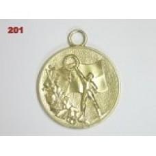 Medaile 201- vítěz s věncem a vlajkou