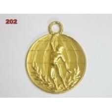Medaile 202 - vítěz s věncem