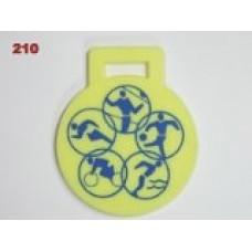 Medaile 210 - plastová s potiskem